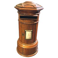 19th Century Oak Country House Post Box