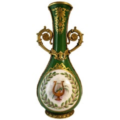 French Sevres Attributed Porcelain Vase with Ormolu Bronze Mounts