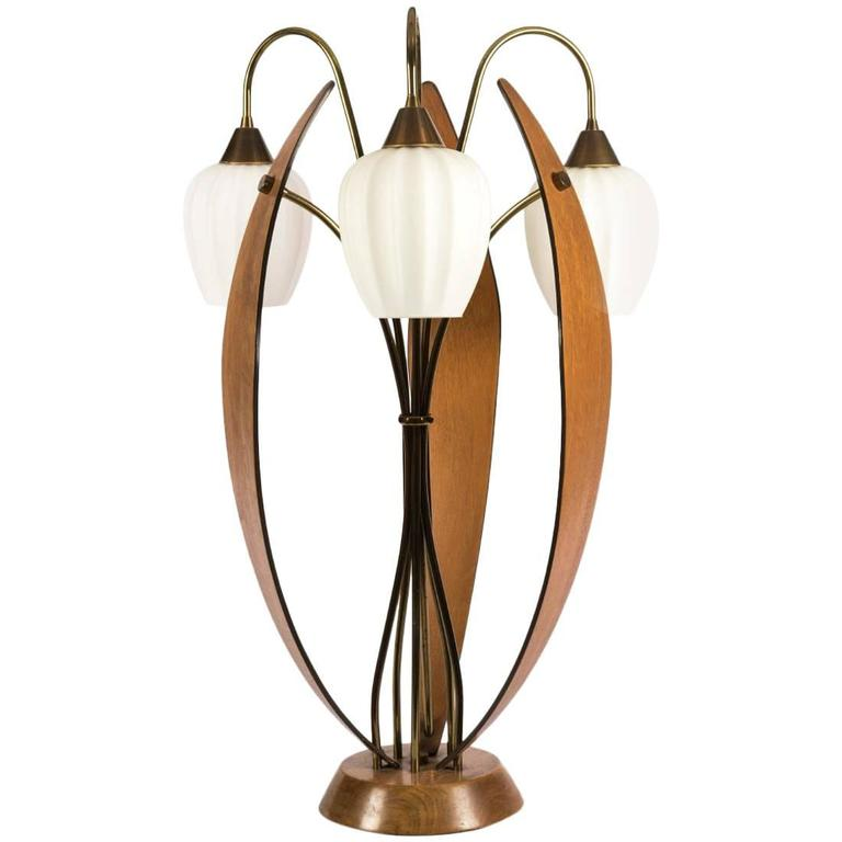 Large Mid-Century Modern Table Lamp