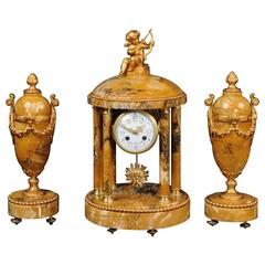 Grand Tour Style Portico Clock Set by Samuel Marti