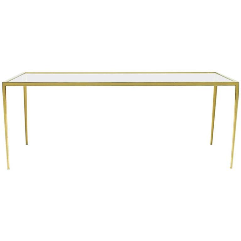 Brass and Glass Coffee Table by Vereinigte Werkstätten, Germany 1960s