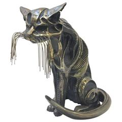Bronze Cat Sculpture Signed and Numbered by John Jagger