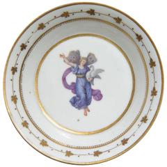 Neoclassical Gilt Decorated Plate With Mythological Figure
