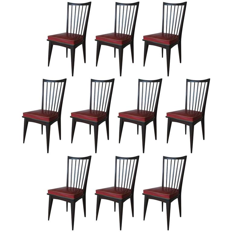 Set of Ten Italian Dining Chairs 1
