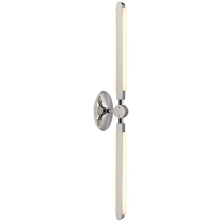 Pris Linear Sconce in Polished Nickel by PELLE