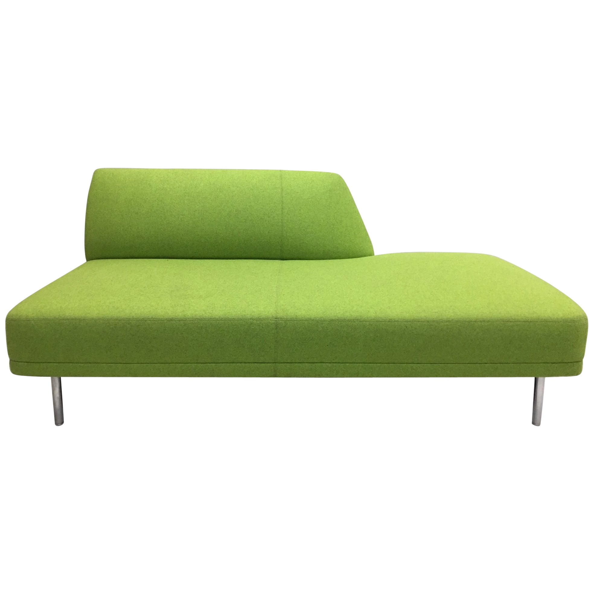 Italian Design Mid-Century Modern Style Moss Green Sofa, Love Seat and Bench