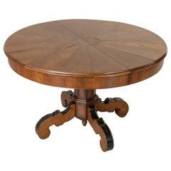 19th Century Napoleon III Period Walnut Gueridon Entry Table Pedestal Table