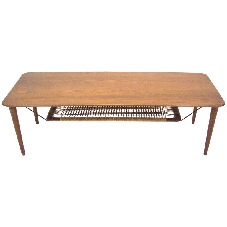 Mid-Century Norwegian Teak Coffee Table by Gustav Bahus For Sale