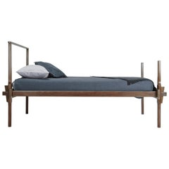 Queen Sized Greydon Bed in Walnut - handcrafted by Richard Wrightman Design