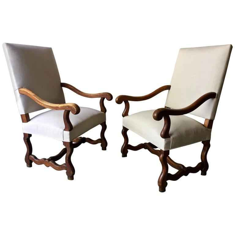 Pair of French Louis XIV Style Armchair For Sale