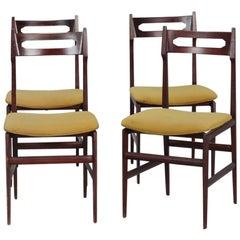 Set of Four Mid-Century Italian Frattini Style Chairs