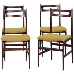 Set of Four Mid-Century Italian Frattini Style Chairs