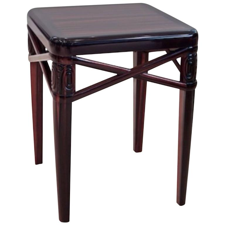 Ruhlmann Small Side Table in Macassar Ebony