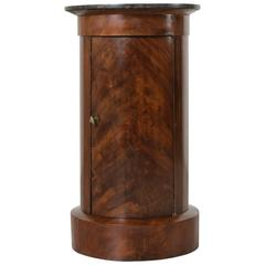 19th Century French Empire Period Mahogany Somneau Drum Table Side Table