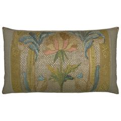 Antique Florentine Tapestry Pillow, circa 18th Century