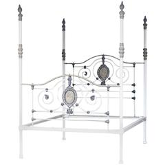 Wide Cast Iron Four Poster Bed M4P23