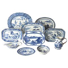 Fine Collection of Blue and White Chinese Export