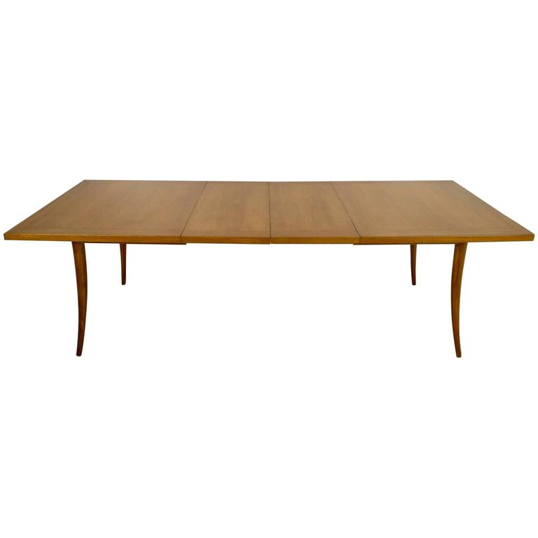 Harvey Probber Saber Leg Table in Bleached Mahogany