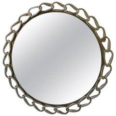 Contemporary Cast Metal Mirror from Costantini
