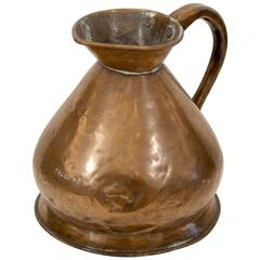 Large Copper Watering Pitcher