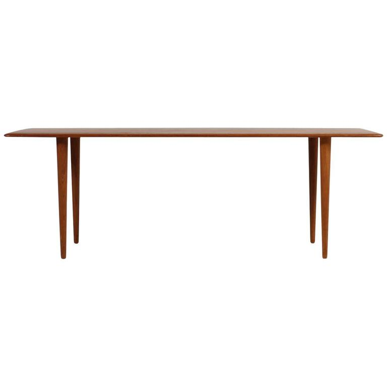 1960s Peter Hvidt & Orla Mølgaard Nielsen Teak Coffee Table for France & Son