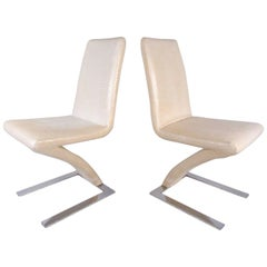 Pair of Modern Verner Panton Style Cantilever Chairs