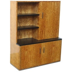 Extremely Rare Art Deco Wall Cabinet or Book Case by Dutch Designer Bas Van Pelt