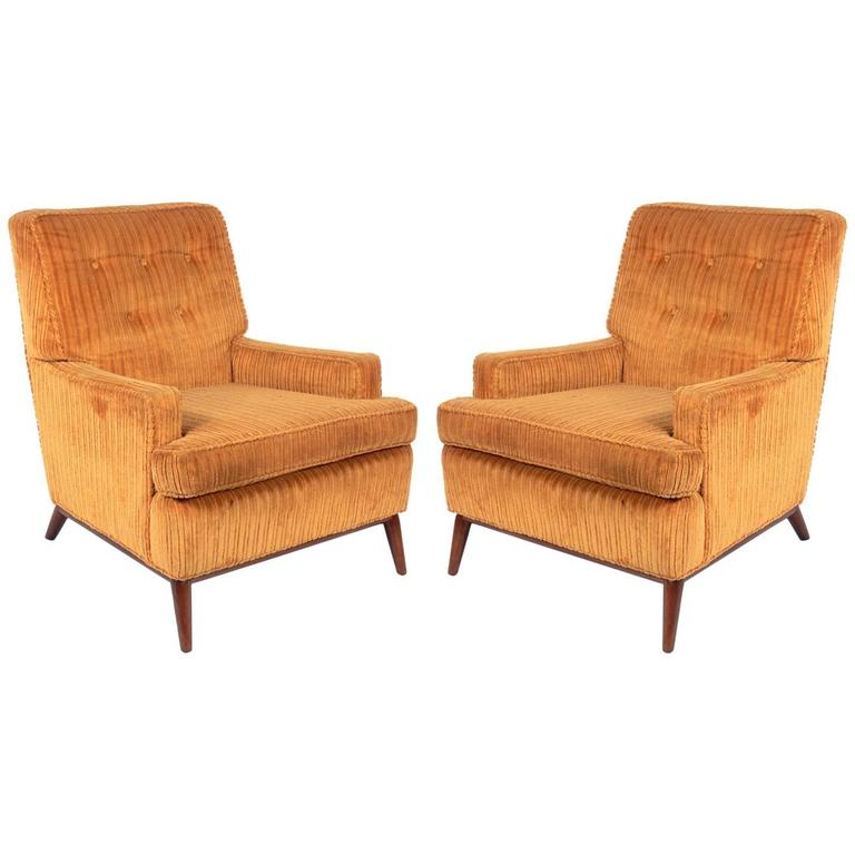 Pair of Lounge Chairs Attributed to T.H. Robsjohn-Gibbings