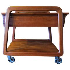 Danish Teak Trolley with Sliding Top