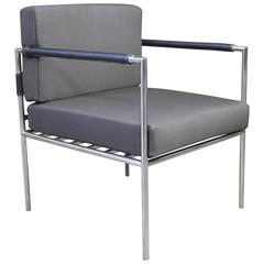 Rinaldo Modern Outdoor Steel Dining Chair with Stitched Arms from Costantini
