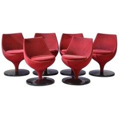 Pierre Guariche Six Vintage Swivel Chairs