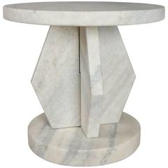 Stone Brancusi Design Side Table by Robert Kuo, Limited Edition