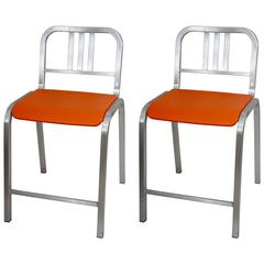 Pair of Bar Stools Designed by Ettore Sottsass