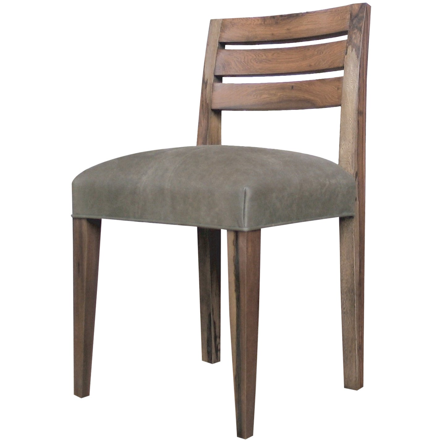 Renzo Contemporary Argentine Rosewood and Leather Side Chair from Costantini
