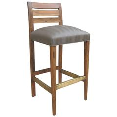 Renzo Contemporary Solid Argentine Rosewood and Stool from Costantini