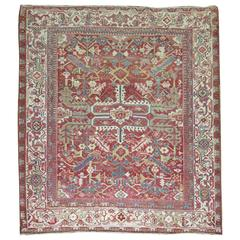 Square Persian Heriz Rug