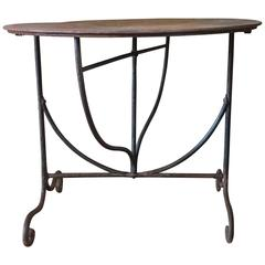 18th Century Delightful Wrought Iron Garden Table