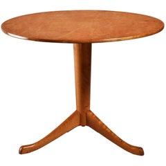 Axel Larsson Round Gueridon Table, Svenska Möbelfabriken, Bodafors, 1930s