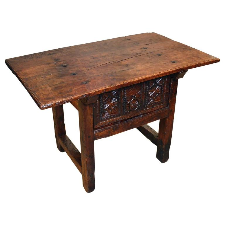 Very Nice 18th Century Period Chestnut Spanish Side Table