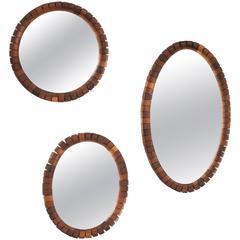 Three Rosewood Mirrors