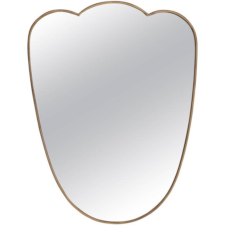 Italian Brass Scalloped Mirror 1