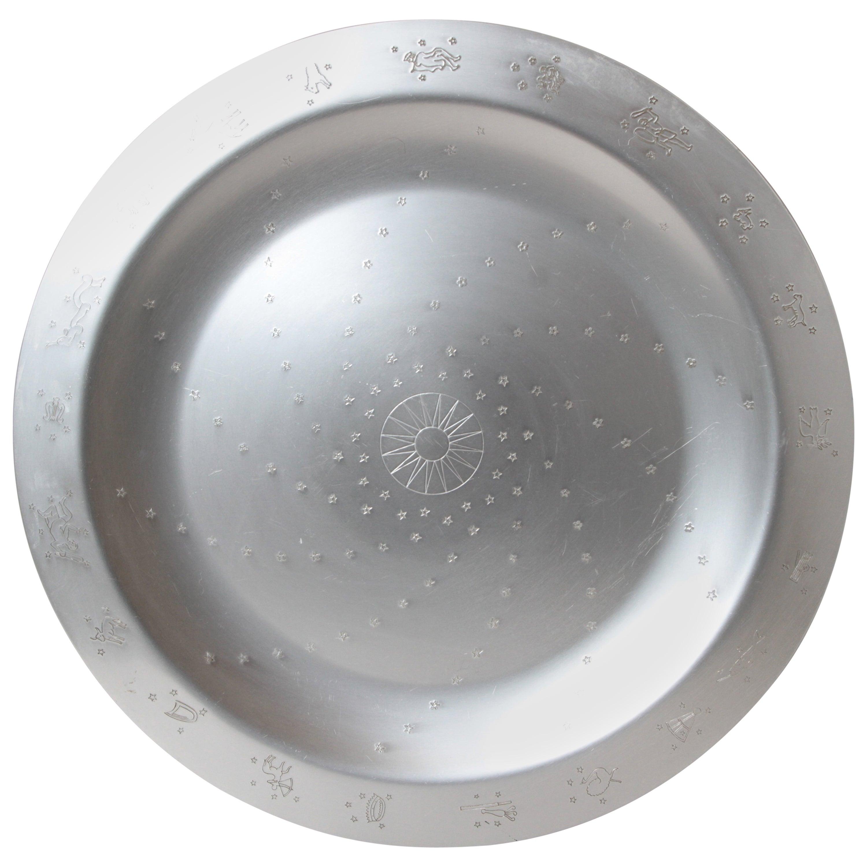 "Art Deco Lurelle Guild for Kensington Aluminum 18 Inch ""Constellation"" Tray"