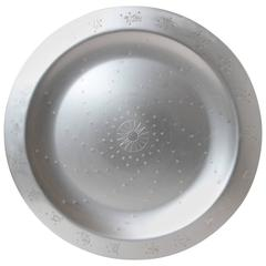 "Art Deco Lurelle Guild for Kensington Aluminum 18 Inch ""Constellation"" Tray"