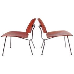 Early LCM Red Aniline Dyed by Charles Eames for Herman Miller Right One SOLD