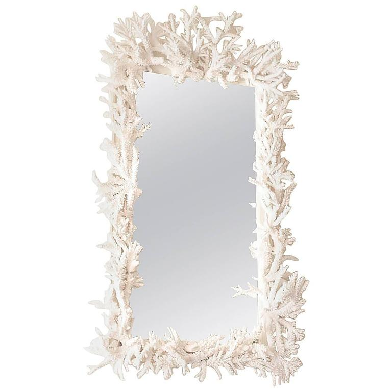 Rare Candace Barnes Designed Antiqued Coral Mirror 1