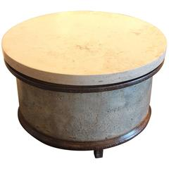 French Industrial Barrel with Jura Grey Stone Top