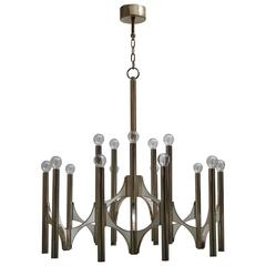 Sciolari Fifteen-Light Chrome Chandelier