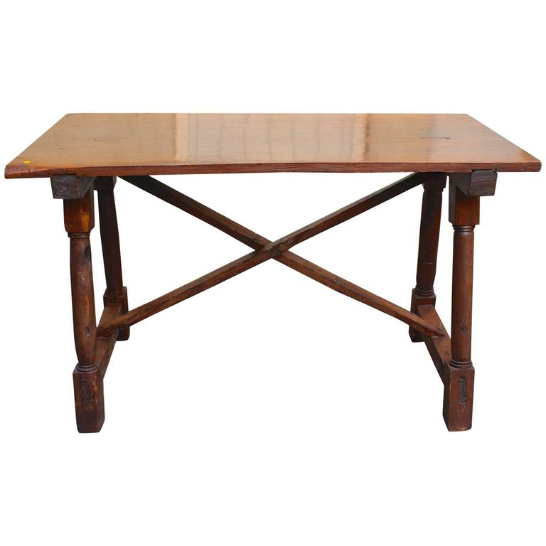 Antique French Early 19th Century Walnut Presentation Table 1