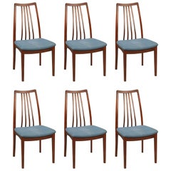 Set of Six Mid-Century Danish Hardwood Dining Chairs
