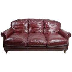 Classic Leather Sofa Couch